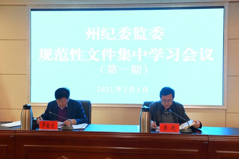 甘南州纪委监委集中开展规范性文件解读培训工作